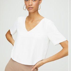Aritzia Babaton blouse size xs white